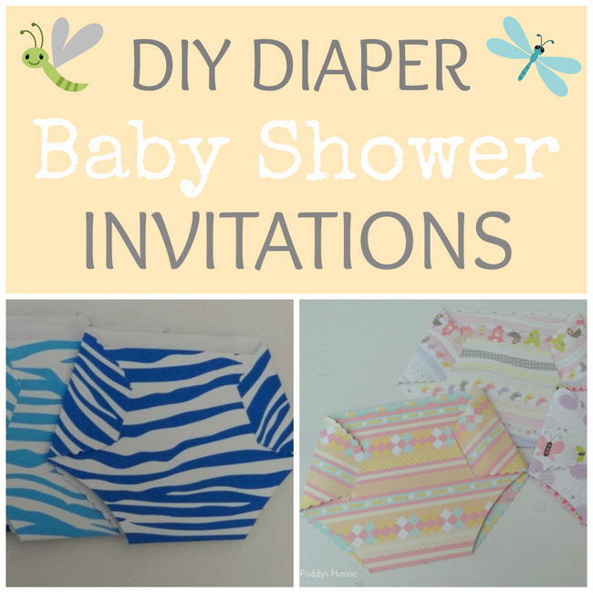 1-DIY Diaper baby shower invitations