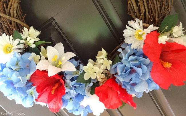 DIY Patriotic Wreath - all flowers