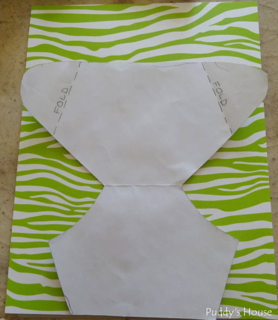 diaper invitation - template on paper