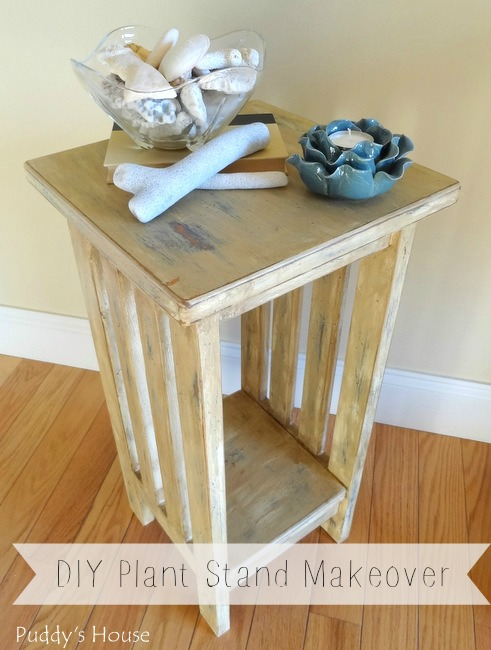 1-DIY Plant Stand Makeover - beach vignette