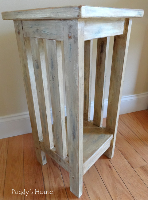 DIY Plant Stand Makeover - Annie Sloan Dark Wax added