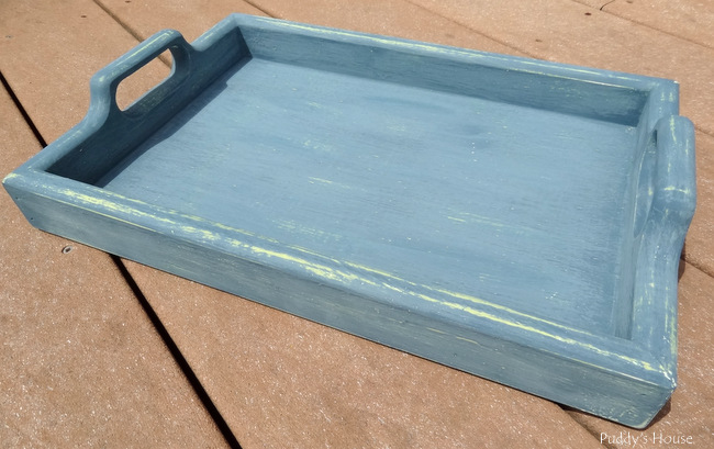 Tray makeovers - tray after distressing