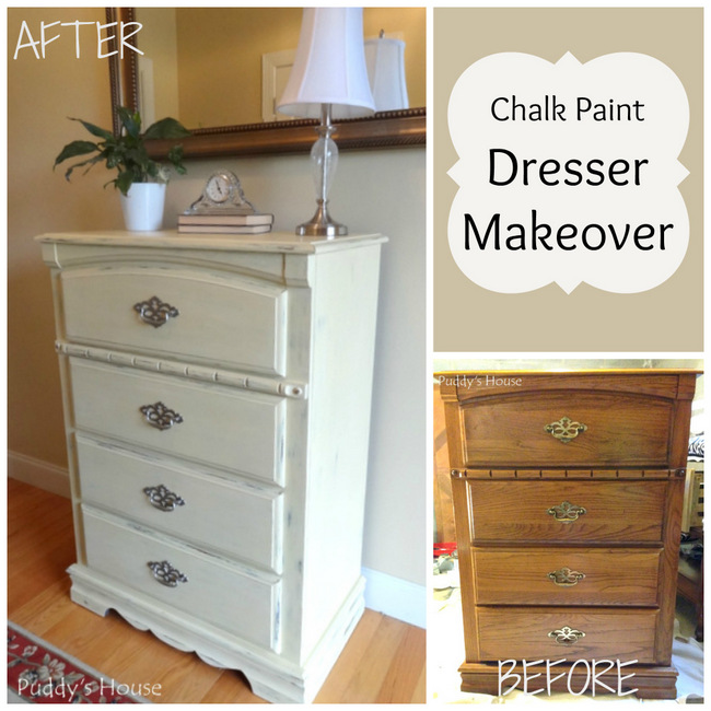 1-Chalk Paint Dresser Makeover