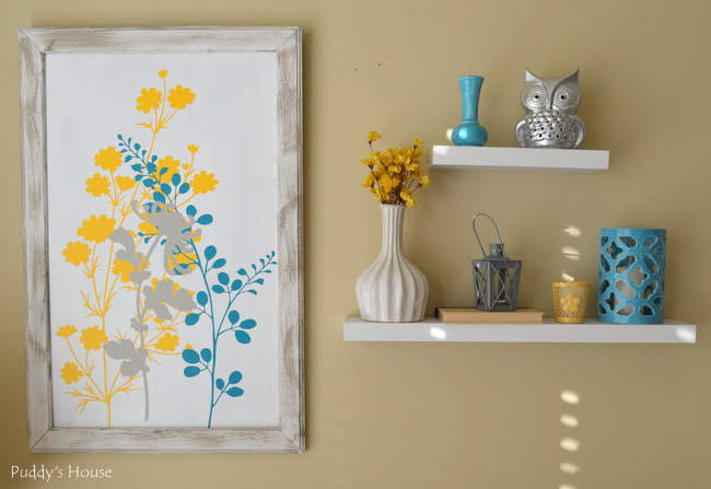 Wallternatives - hanging framed decals and shelves