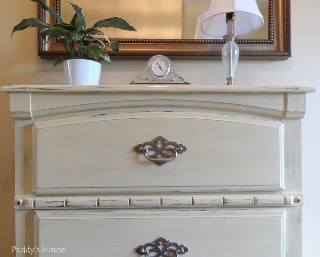 chalk paint dresser makeover 2