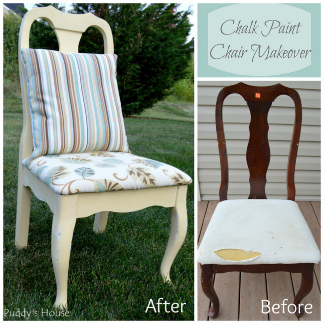 Makeover an old thrift shop chair into a new pretty seat
