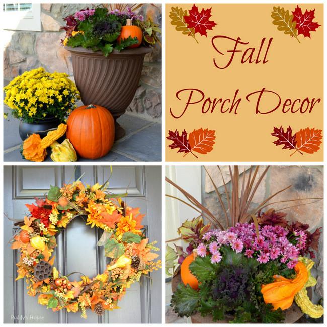 Fall Porch Decor with DIY Wreath