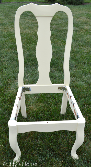 Chalk Paint Chair Makeover - after paint