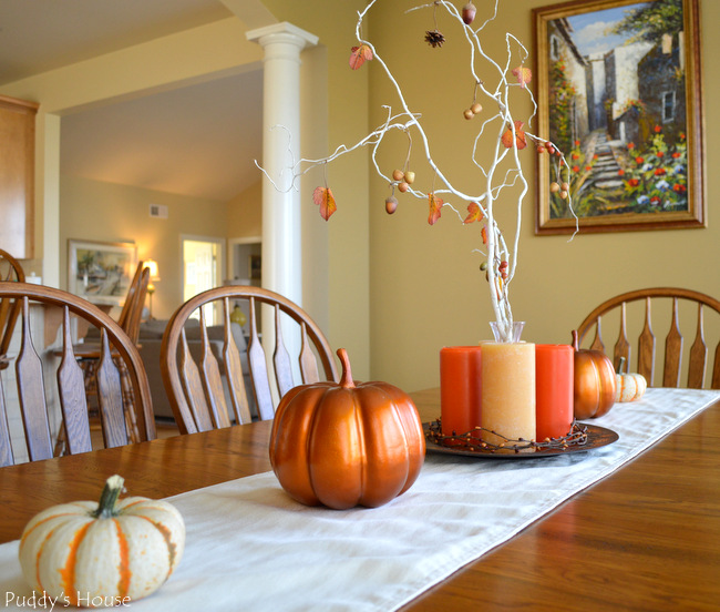 Fall Home Tour - Dining Room Table decor