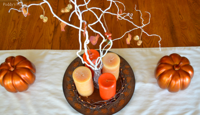 Fall Home Tour - Tablescape from above