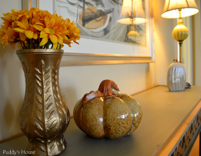 Fall Home Tour - living room console table