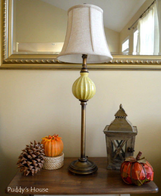 Fall Home Tour - living room side table