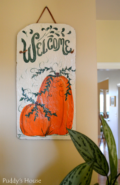 Fall Home Tour -  welcome sign