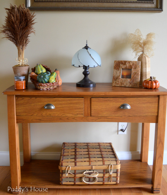 Fall Home tour - Foyer table