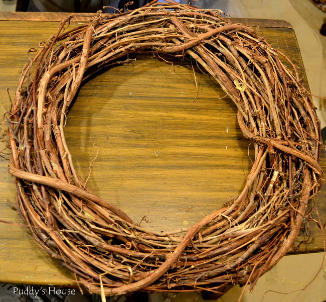 Fall Porch Decor - grapevine Wreath