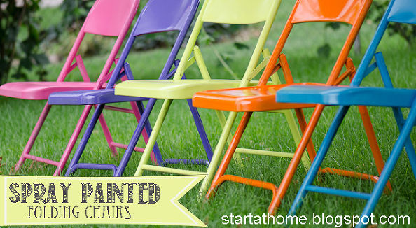 bright folding chairs