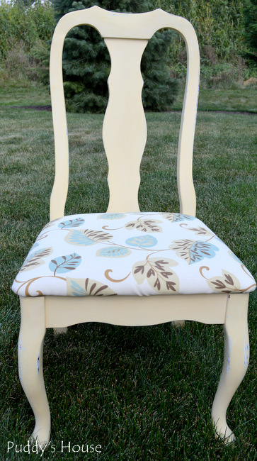 chalk paint chair makeover - chair after