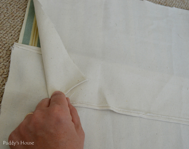 chalk paint chair makeover - layering for envelope pillow