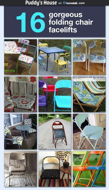 Folding Chair Makeovers - Puddy's House on Hometalk