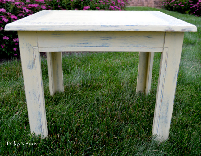 stenciled end table - after (2)