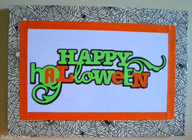 DIY Halloween Decor - canvas using cricut and mod podge