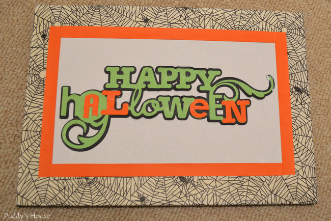 DIY Halloween Decor - canvas with Happy Halloween from cricut