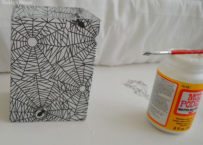 DIY Halloween Decor - decoupage paper