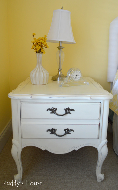 Chalk Paint Nightstands - after left side