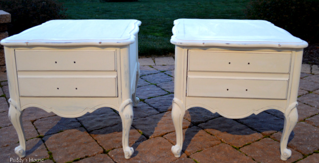 Chalk Paint Nightstands - after paint