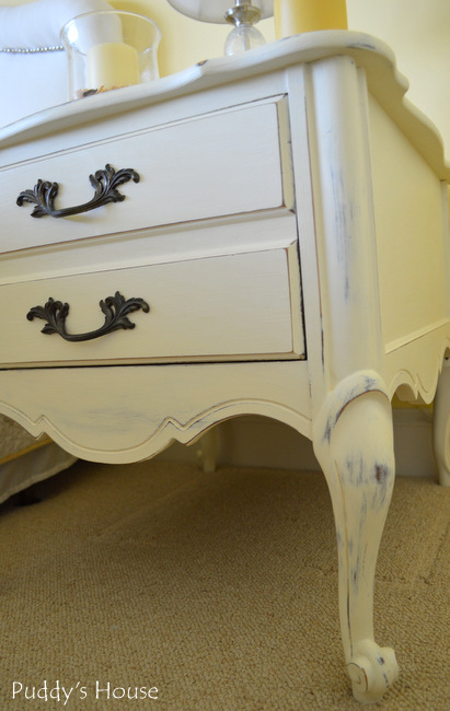 Chalk Paint Nightstands - after side
