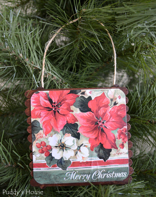 DIY Mini Pallet Ornaments