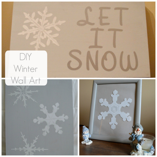 DIY Wnter Wall Art