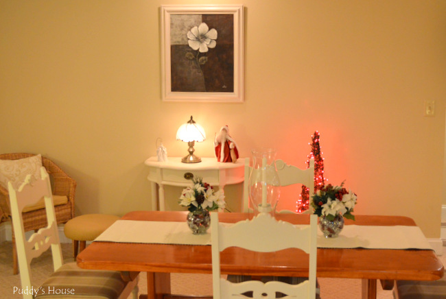 Christmas House - basement dining area