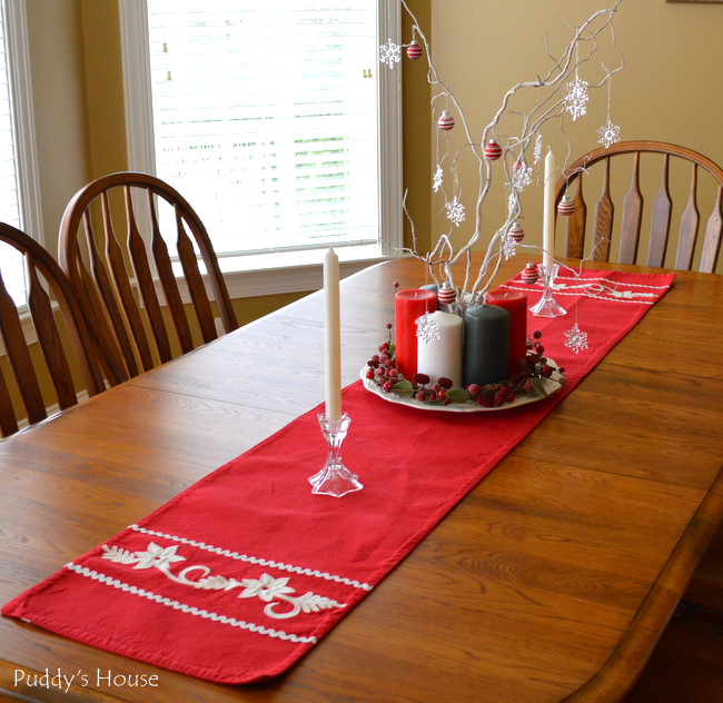 Christmas House - tablescape