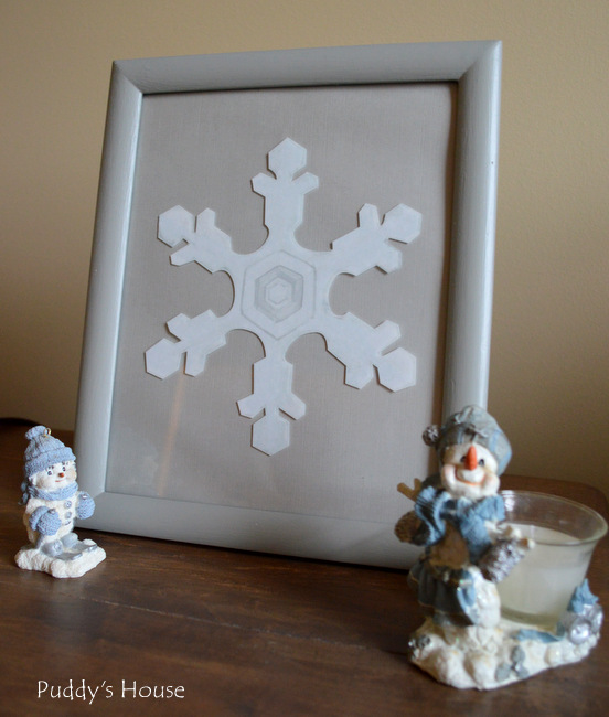 Wallternatives - framed snowflak