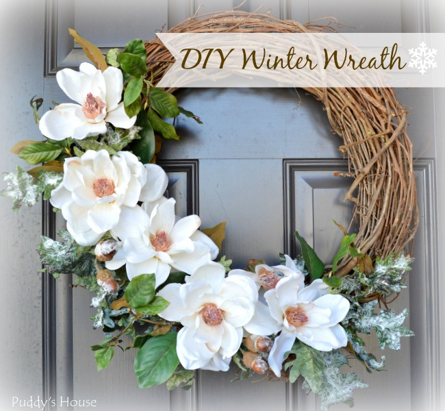 DIY White Winter Wreath