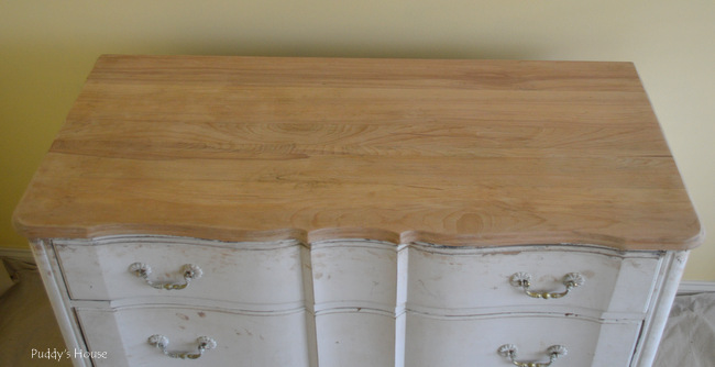 guest room dresser - after stripping
