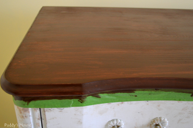 guest room dresser - stained topo