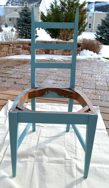 Blue Chair - after paint