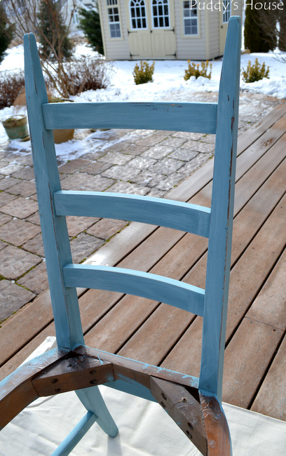 Blue Chair - distressing