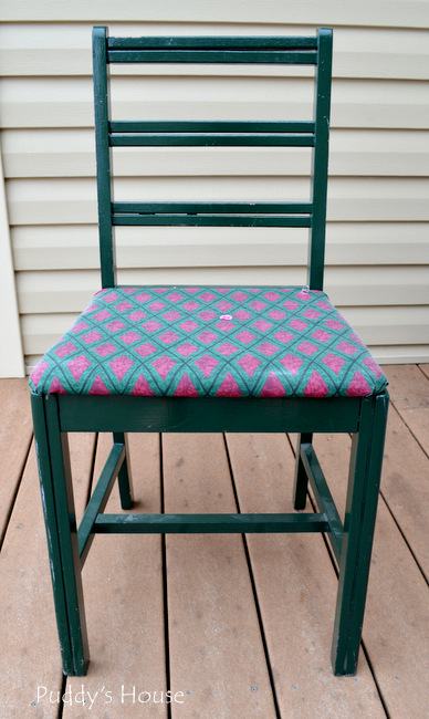 Yard Sale - green chair
