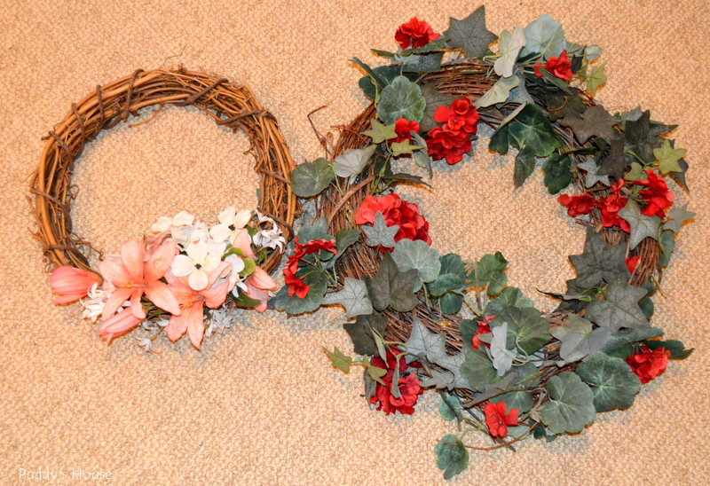 Yard sale - wreaths