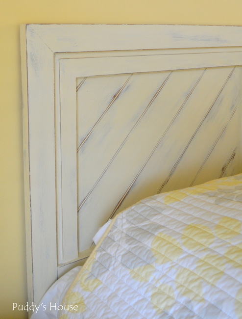 guest room headboard - close up