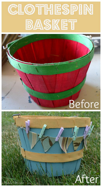 1-Clothespin Basket before after