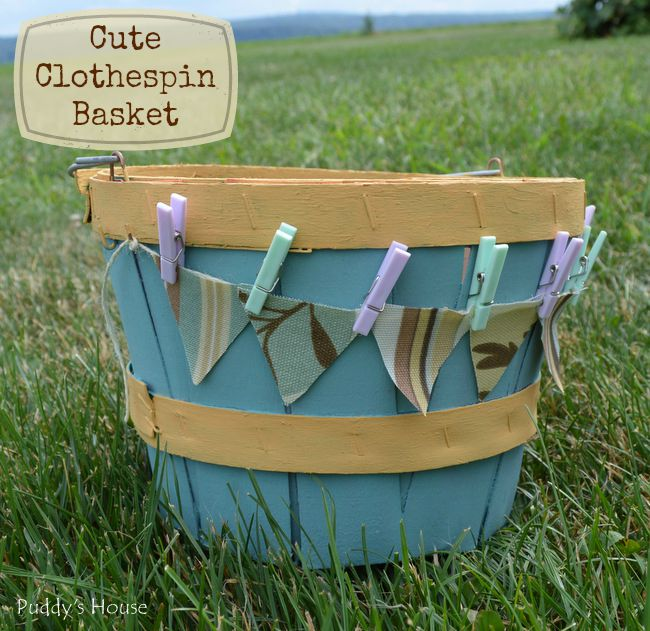1-Cute Clothespin Basket