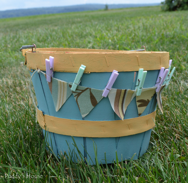 clothespin basket after