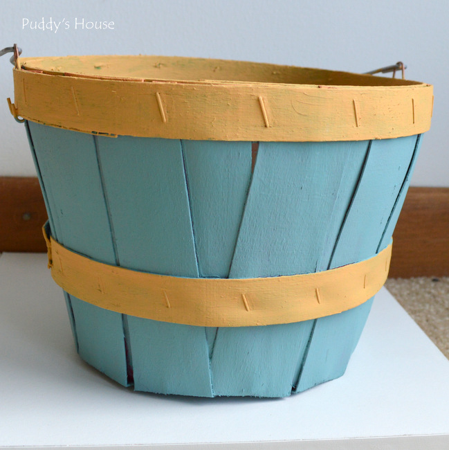 clothespin basket painted