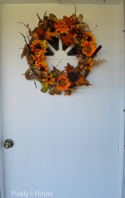 Front door - after with wreath