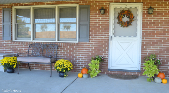 Front door - porch after