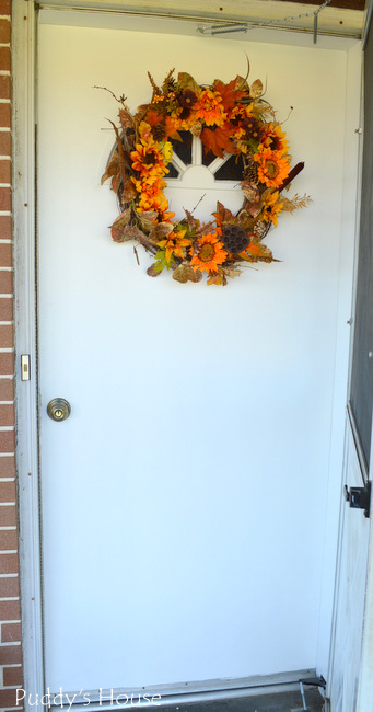 Front door - with wreath after